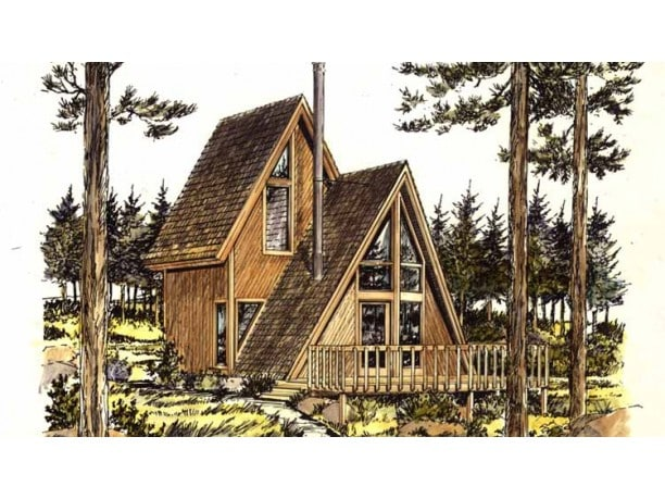 7 trendy tiny house floor plans in 2016 for Modified a frame cabin