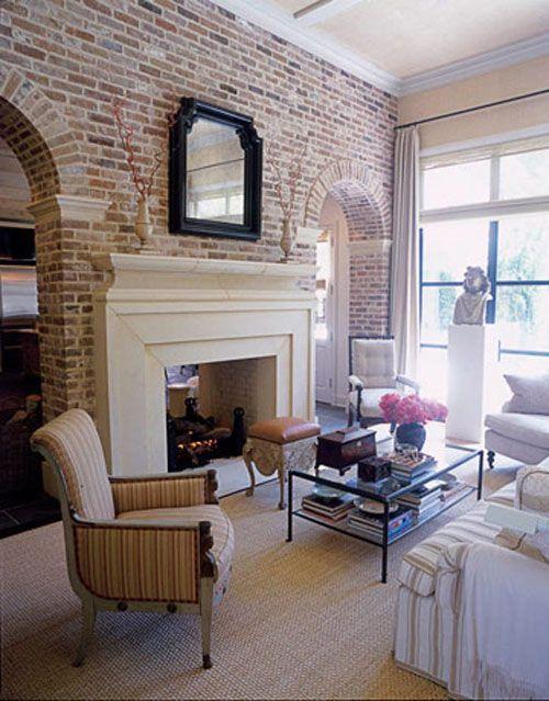 brick wall fireplace ideas 12 - 12 Stunning Ideas To Make Your Brick Wall Fireplace Unique - Home