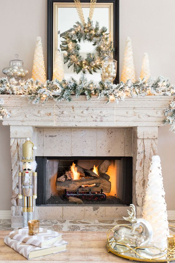 Festive Holiday Decorating Ideas for your Fireplace Mantel Home – Fireplace Mantel Decor Ideas Home
