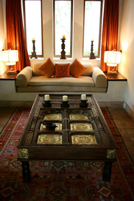 How to achieve fascinating living room designs in indian for Indian ethnic living room designs