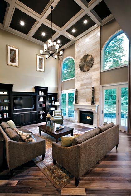 Effective living room layouts for your fireplace and tv for Family room layout with tv
