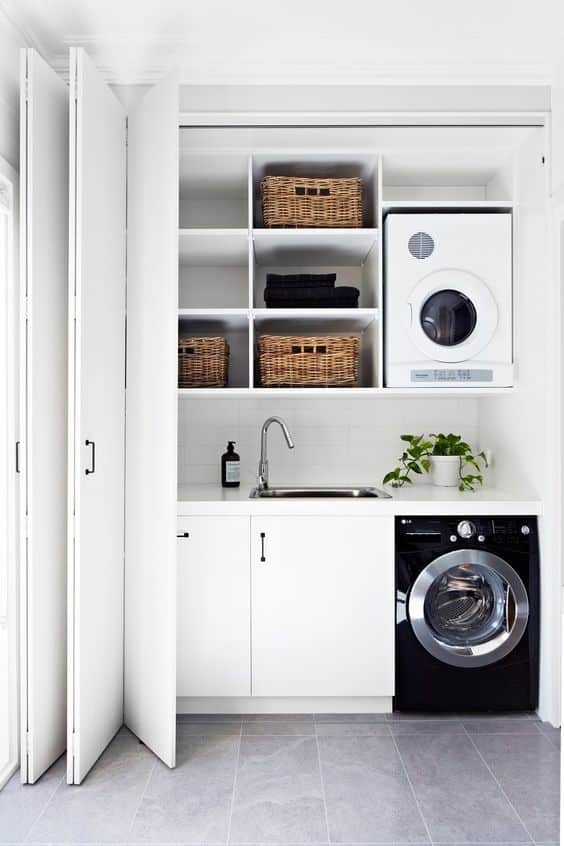 Smart ideas to make small laundry rooms efficient home ideas hq - Secadora pequenas dimensiones ...