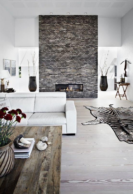 Incredible 12 Stunning Ideas To Make Your Brick Wall Fireplace Unique Home Interior And Landscaping Eliaenasavecom