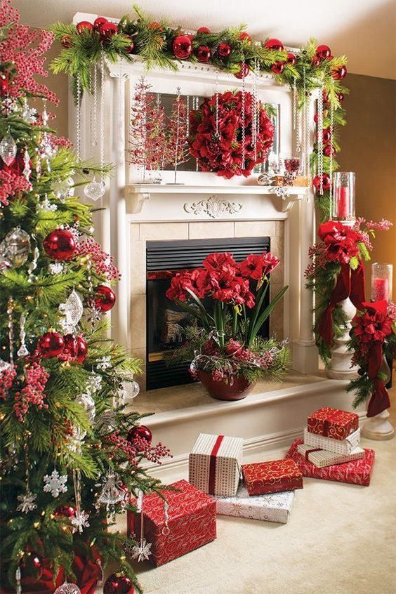 Holiday Fireplace Mantel Decorating Ideas 1 Home Ideas Hq