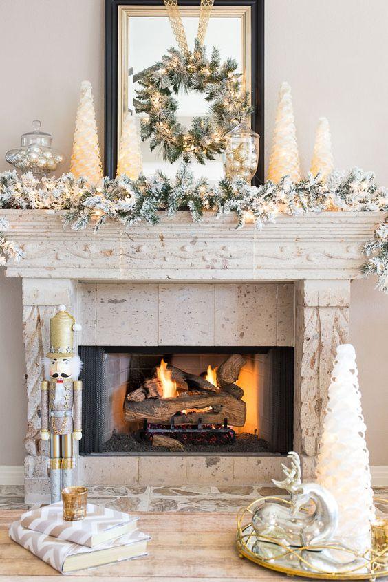 Holiday Fireplace Mantel Decorating Ideas 3