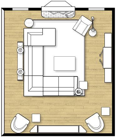 living room layout fireplace and TV 3