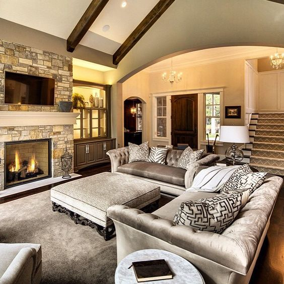living room layout fireplace and TV 4-1