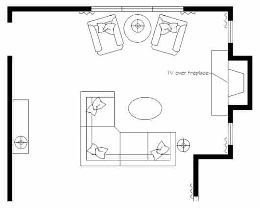 living room layout fireplace and TV 4