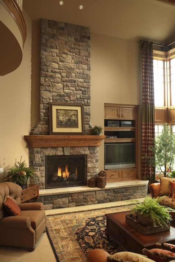 living room layout fireplace and TV 5-1