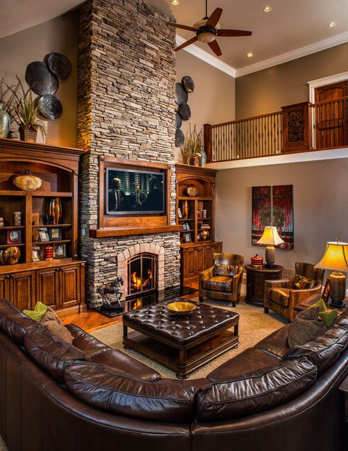 living room layout fireplace and TV 7-1