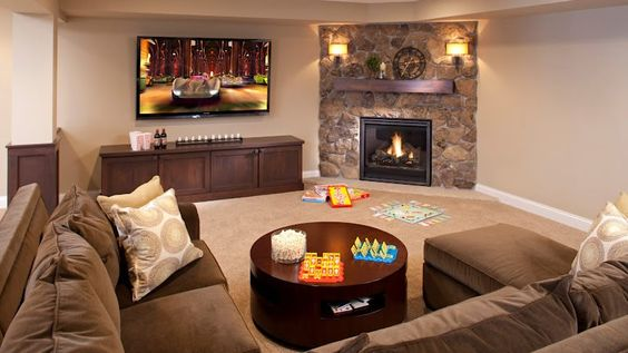 living room layout fireplace and TV 8-1