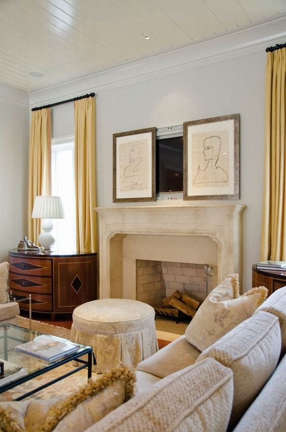 Tv Over Fireplace Ideas