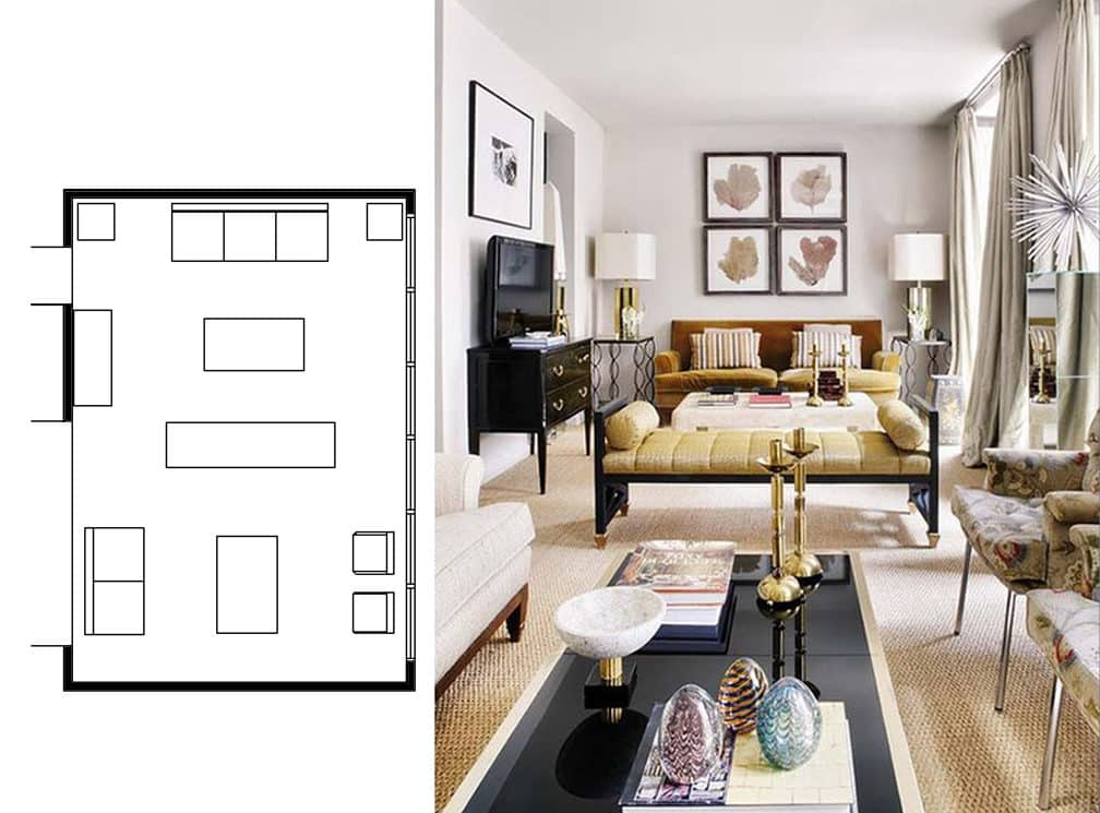 Marvelous Narrow Living Room Layouts: Solutions and Designs ...