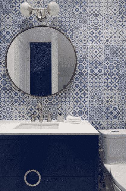 Superbly Portray Your Blue Bathroom Decor, Bathroom Decor Blue